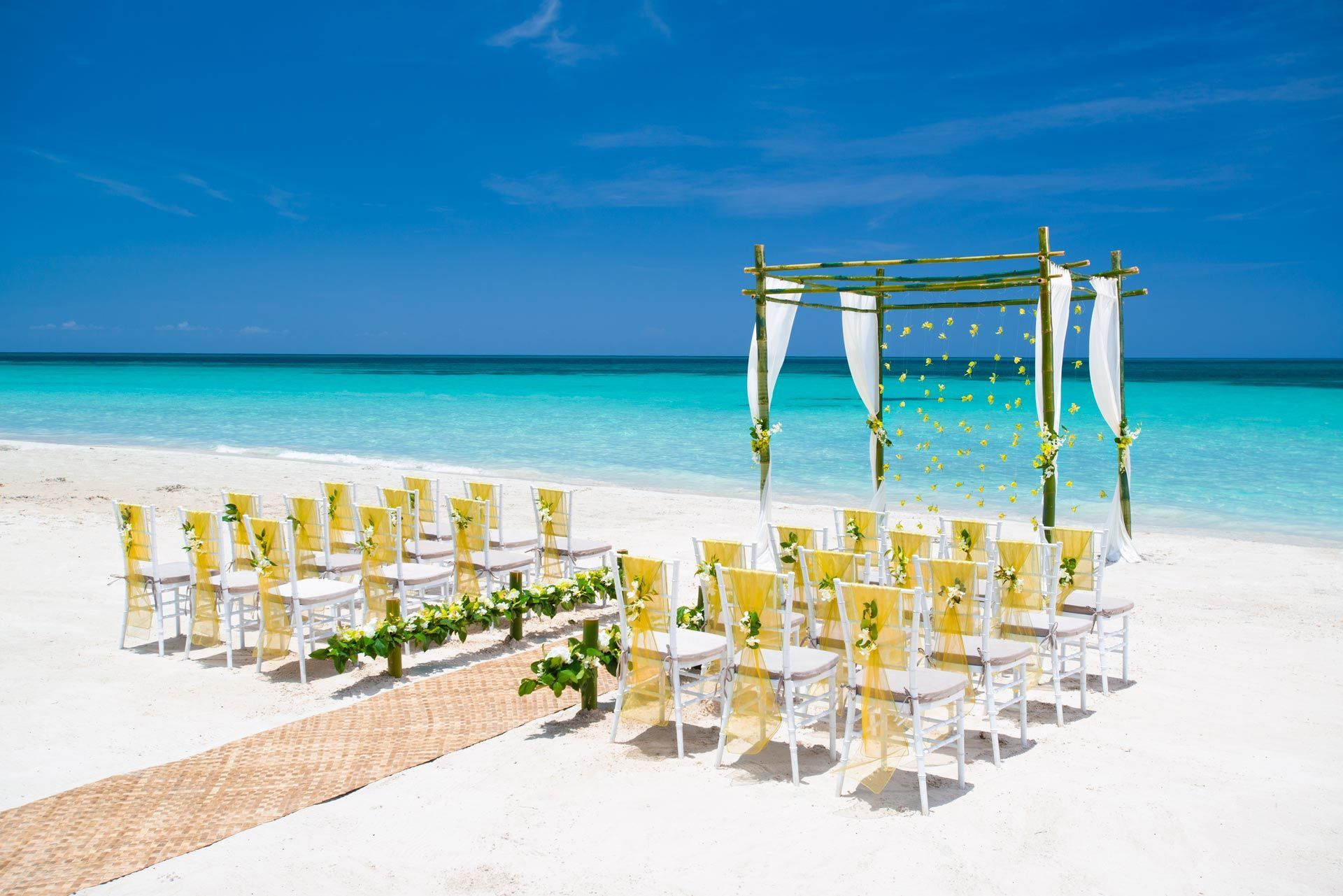 Beaches Negril Beach Front Wedding Reception
