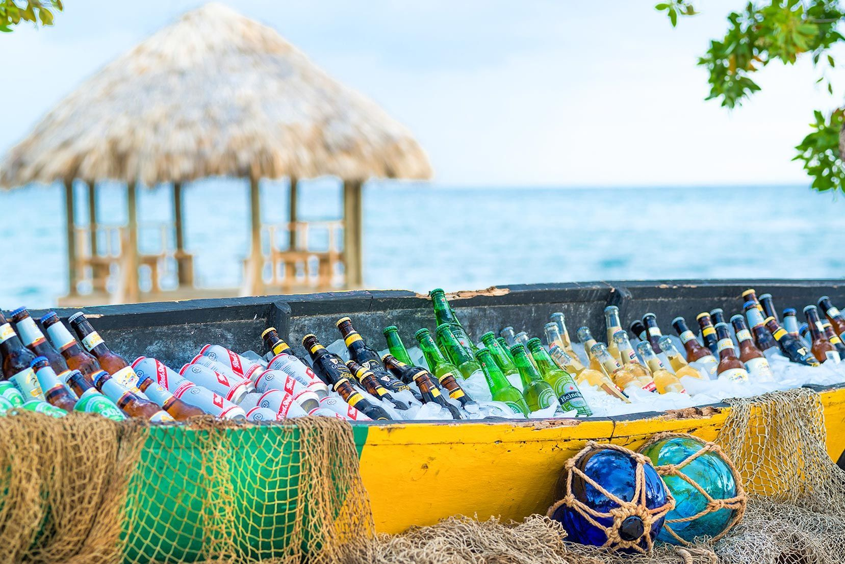 Sandals South Coast Canoe Filled Refreshments