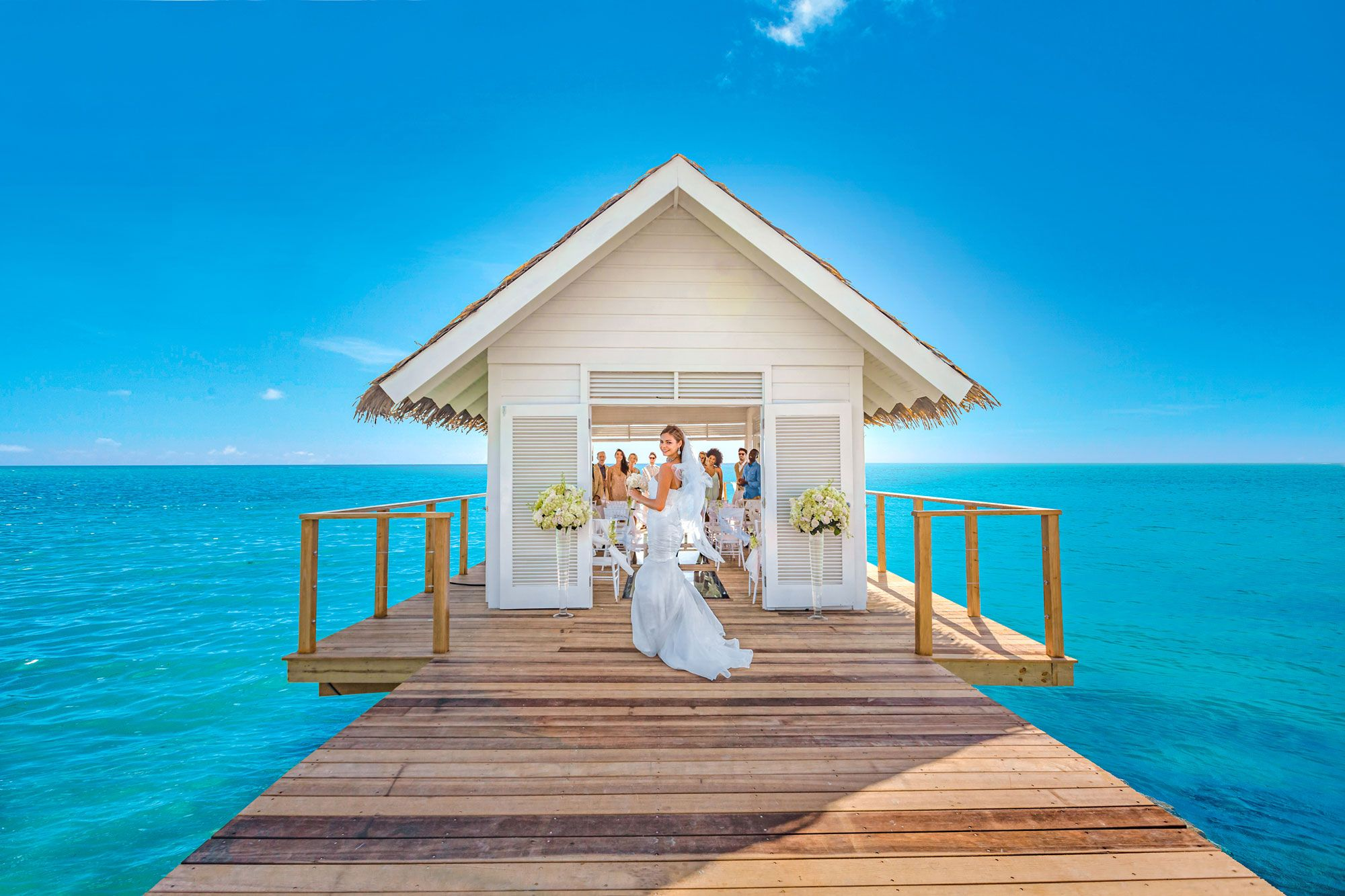Sandals South Coast Over Water Chapel Bride