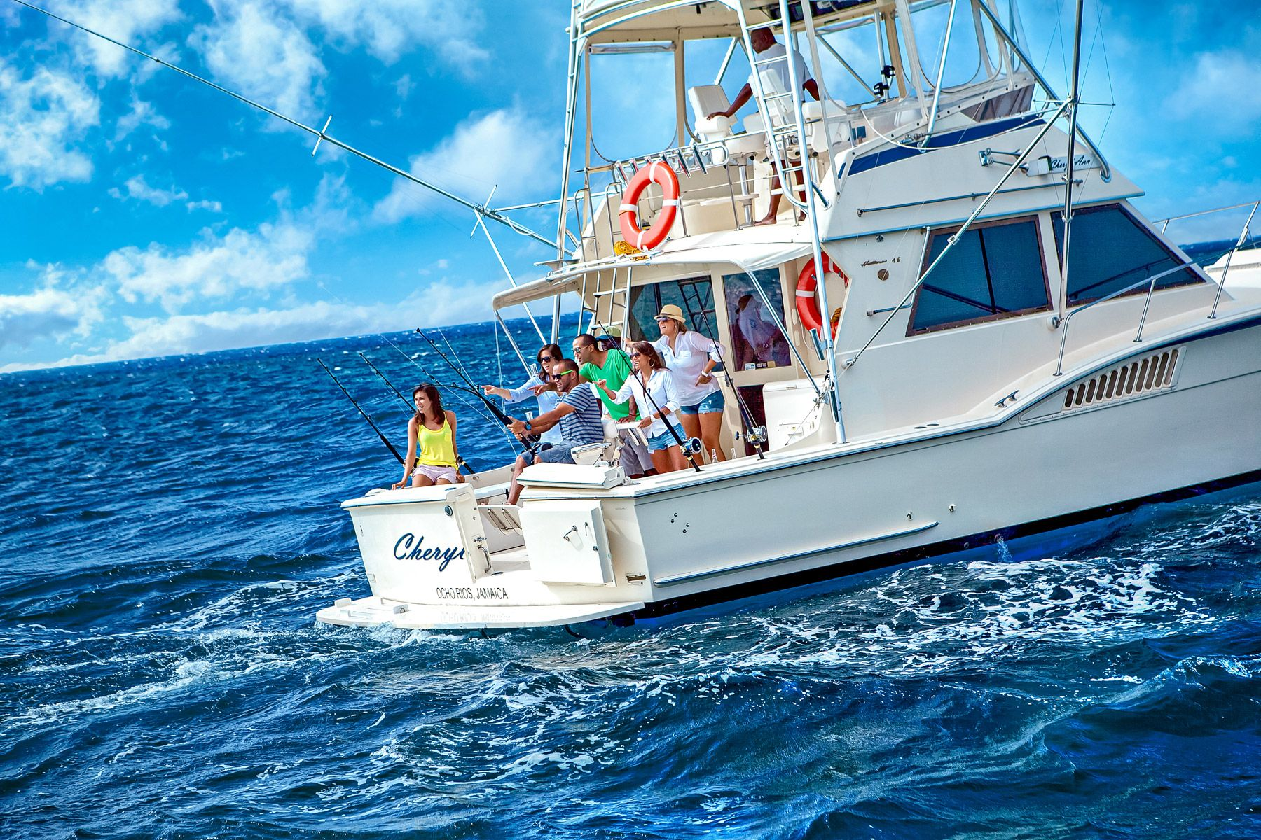 deep sea fishing boat negril jamaica