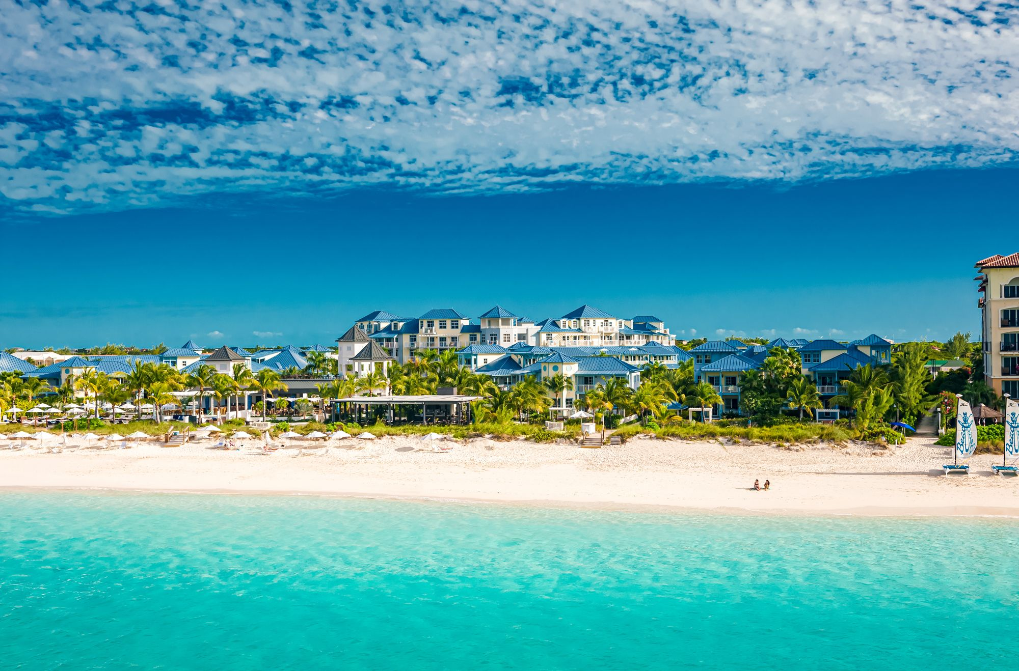 Beaches Turks Caicos Aerial Beachfront