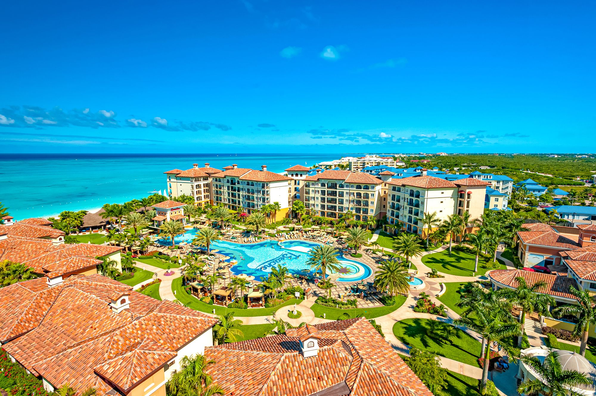 Beaches Turks Caicos Overview Aerial