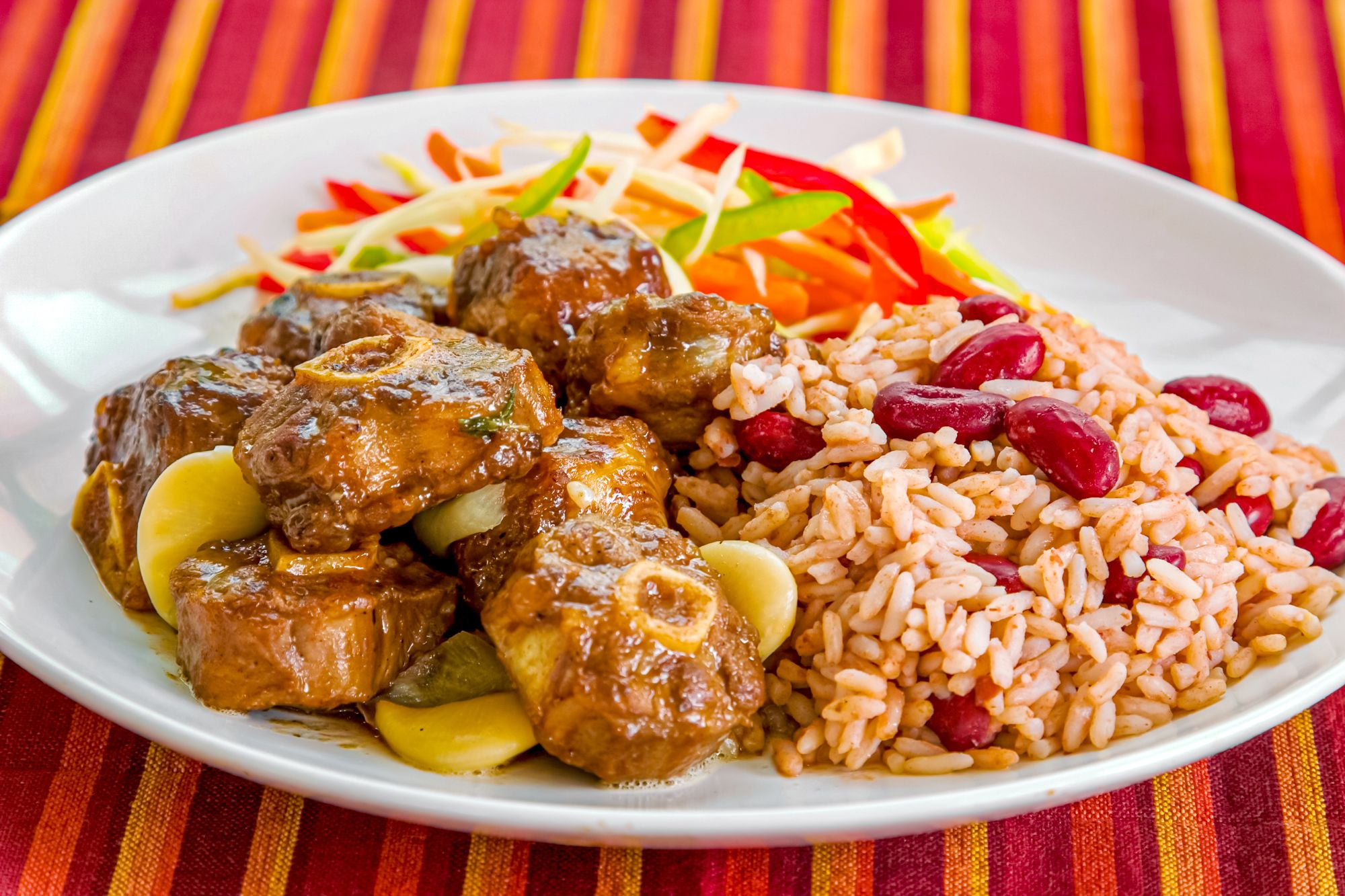 Jamaican Oxtail Rice Peas