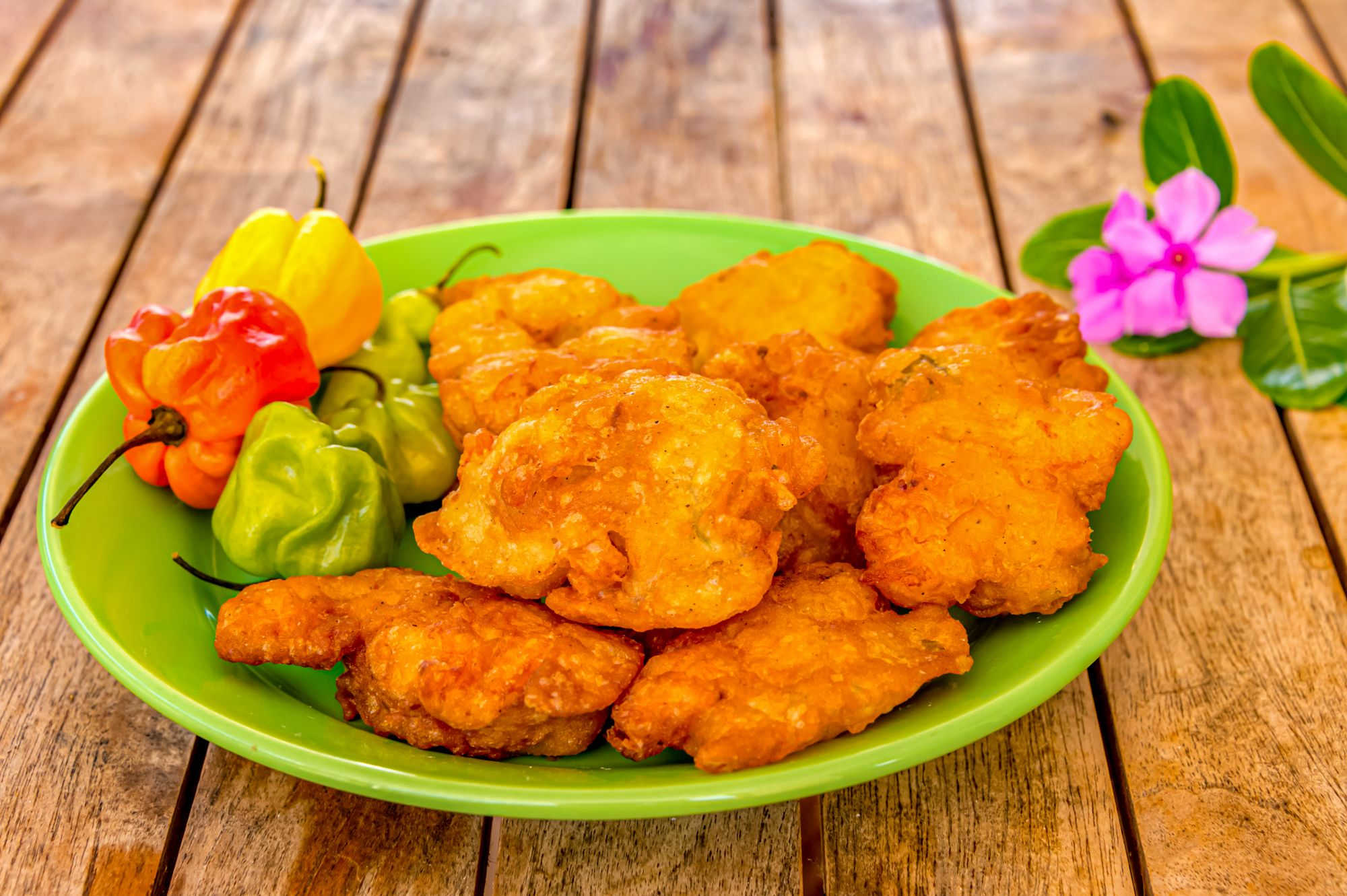 Jamaican Stamp Go Fish Fritters