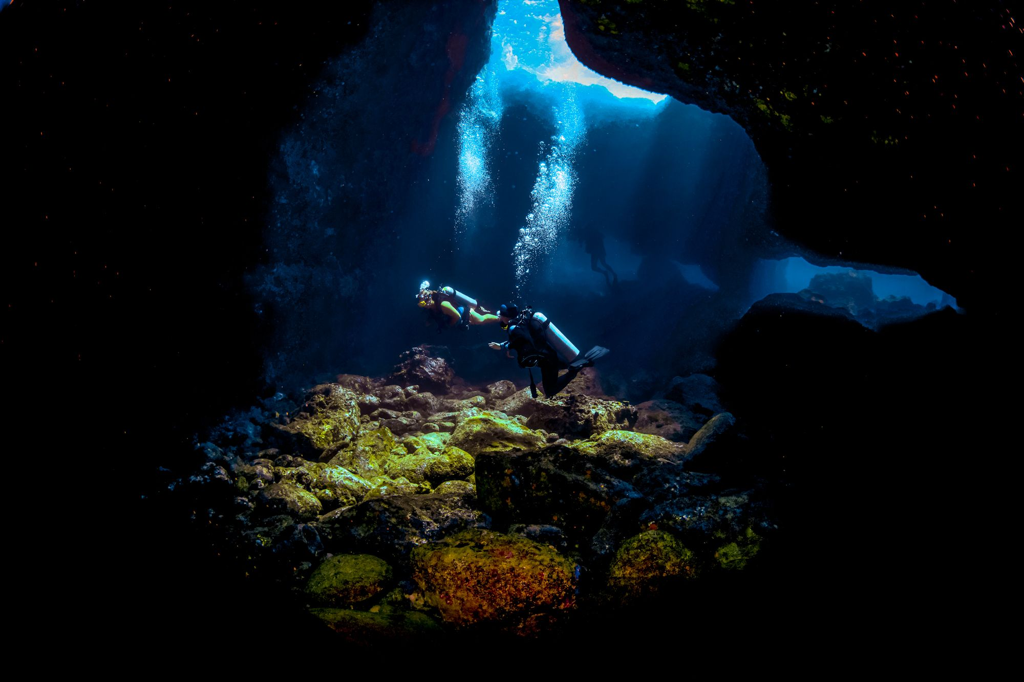 Scuba Diving Jamaica Cave Exploring