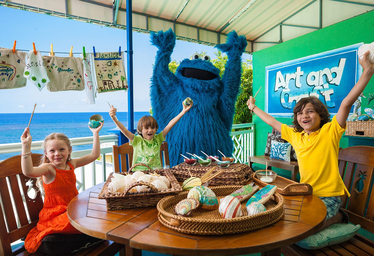 Cookie Monster at Beaches Ocho Rios
